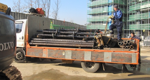 Helical Pile with Grouting